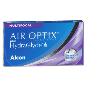 AIR OPTIX plus HydraGlyde Multifocal | 3er Box | Addition HI(MAX ADD+2,50)