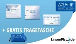 Acuvue®- Tragetasche gratis zu jeder Bestellung mind. einer Box Acuvue®-Kontaktlinsen.