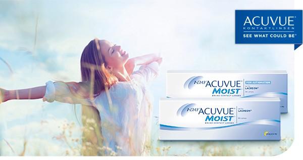 1•DAY ACUVUE® MOIST – trotz Allergie keine Kompromisse im Sommer. Jetzt in unserem OnlineShop.