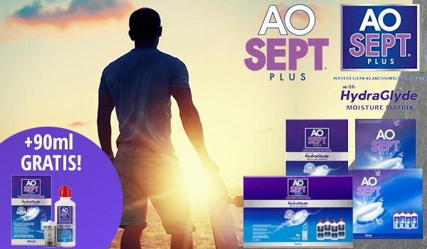 AOSEPT® PLUS Treueaktion, jetzt AOSEPT® PLUS mit HydraGlyde® 90ml gratis zu jeder AOSEPT®PLUS-Bestellung!