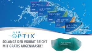 Air Optix Monatslinsen mit kostenloser Augenmaske im Linsenplatz.de Onlineshop!