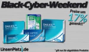 Black-Cyber Weekend: Sonderpreise am ganzen Wochenende auf Linsenplatz.de