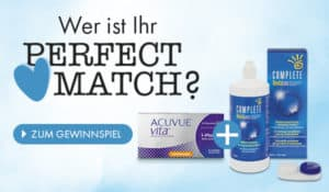 Das Gewinnspiel zum Perfect Match: ACUVUE VITA und COMPLETE RevitaLens jetzt im Linsenplatz.de Onlineshop!