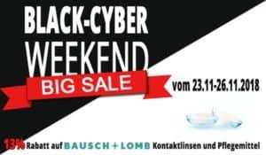 Das Black Cyber Weekend steht vor der Tür! Vom 23.11. bis zum 26.11.2018 im Linsenplatz.de Onlineshop sparen!