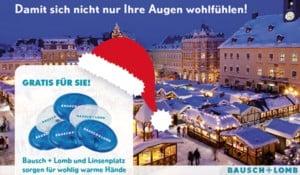 Gratis Handwärmer jetzt bei Bausch+Lomb Kontaktlinsen und Pflegemitteln im Linsenplatz.de Onlineshop!