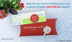 Große Weihnachtsaktion mit BioTrue – 5 Linsen gratis!